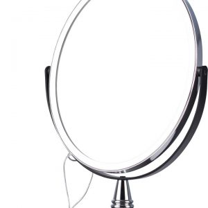Oval Mirror Silver & Black x 3 On Stand