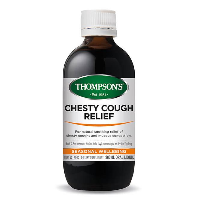 Chesty Cough Relief 200ml – Thompsons