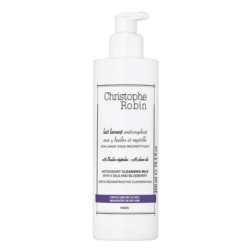 Christophe Robin Antioxidant Cleansing Milk With 4 Oils And Blueberry 400ml