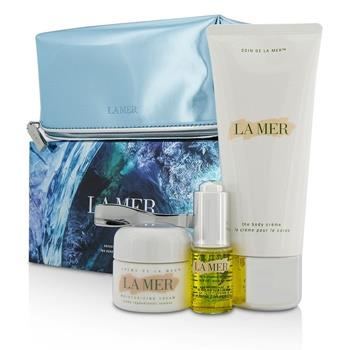 La Mer Sensorial Sensations Set: The Renewal Oil 15ml + Creme De La Mer The Moisturizing Cream 30ml + The Body Creme 200ml +Bag 3pcs+1bag Skincare
