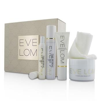 Eve Lom Restorative Ritual Set: Cleanser 200ml+Face Treatment 50ml+Eye Treatment 15ml+Daily Protection SPF 50 50ml+Muslin Cloth 5pcs Skincare