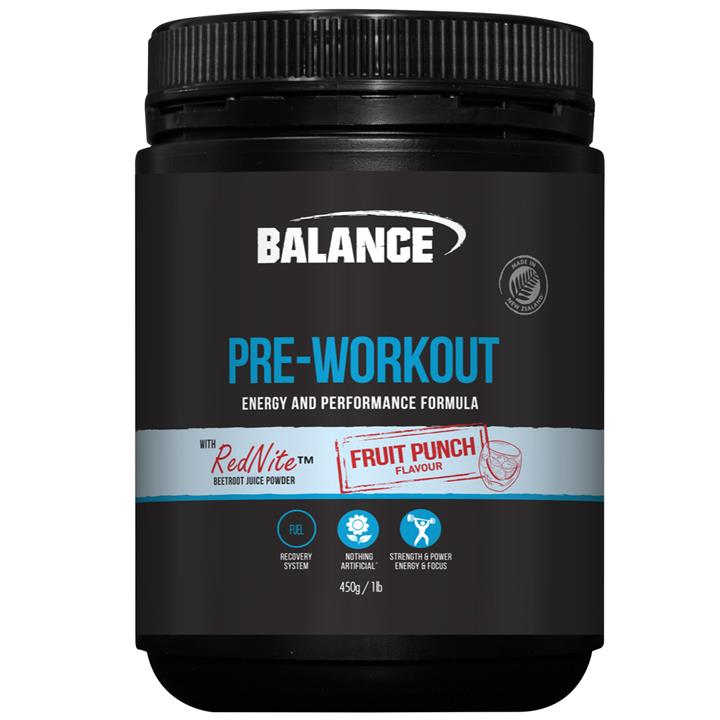 Balance Pre-Workout 450g : Fruit Punch
