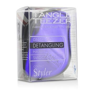 Tangle Teezer Compact Styler On-The-Go Detangling Hair Brush – # Purple Dazzle 1pc Hair Care