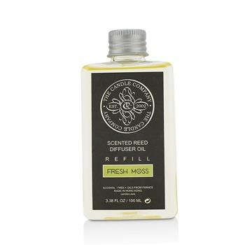The Candle Company Reed Diffuser with Essential Oils Refill – Fresh Moss 100ml/3.38oz Home Scent