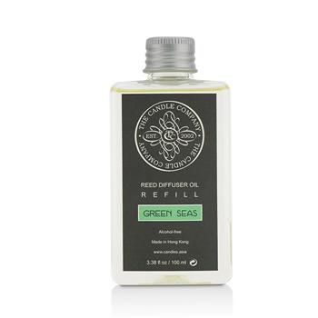 The Candle Company Reed Diffuser with Essential Oils Refill – Green Seas 100ml/3.38oz Home Scent