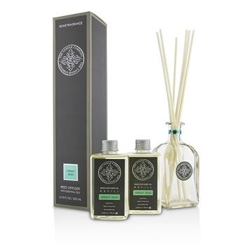 The Candle Company Reed Diffuser with Essential Oils – Green Seas 200ml/6.76oz Home Scent