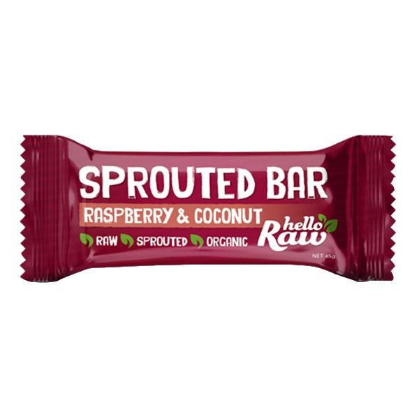 Hello Raw Raspberry & Coconut Sprouted Bar 45gm