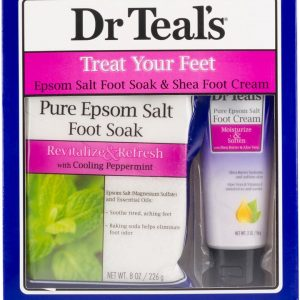 Dr Teals Gift Set - 2pc - Treat Your Feet With Cooling Peppermint