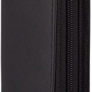 Scissor Case Black textured finish - clip in protection with zipper