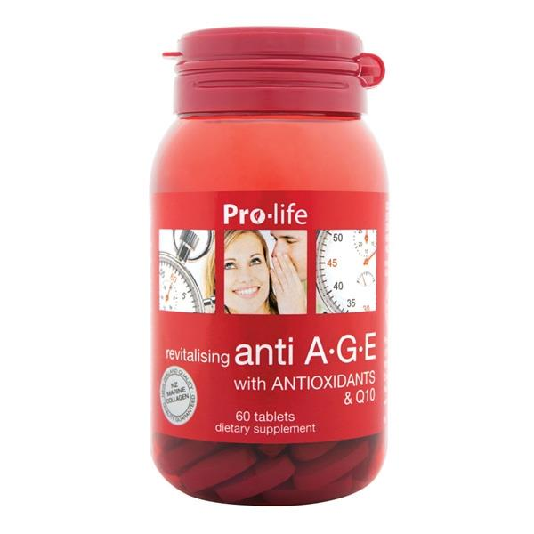 Pro-life Anti A.G.E with Antioxidants & Q10 60 tablets