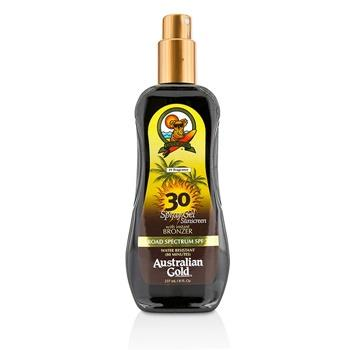 Australian Gold Spray Gel Sunscreen Broad Spectrum SPF 30 with Instant Bronzer 237ml/8oz Skincare