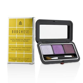Borghese Eye Shadow Duo With Eyeliner - # 02 Venetian Violet 4.15g/0.145oz Make Up