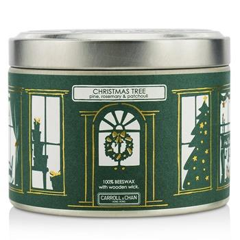 The Candle Company Tin Can Candle – Beeswax, Christmas Tree (8×5) cm Home Scent