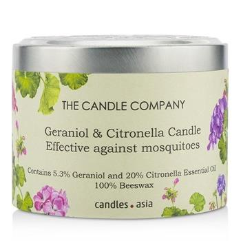 The Candle Company Tin Can 100% Beeswax Candle with Wooden Wick – Geraniol & Citronella (8×5) cm Home Scent
