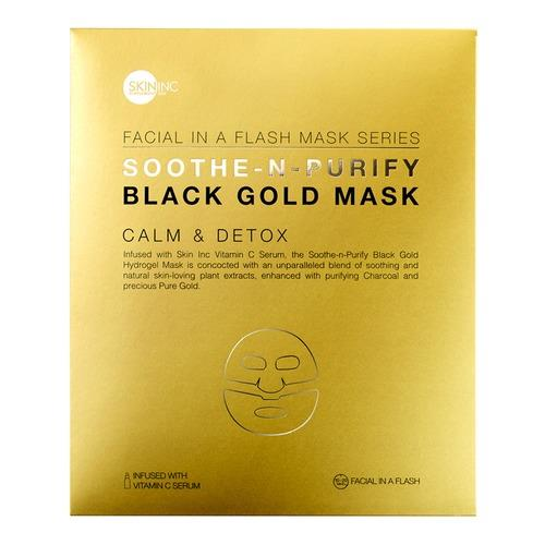 Skin Inc Soothe N Purify Black Gold Mask 1 Piece