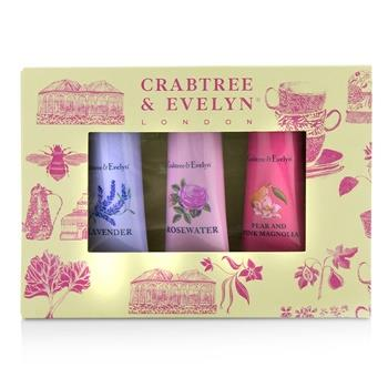 Crabtree & Evelyn Florals Hand Therapy Set (1x Pear & Pink Magnolia, 1x Rosewater, 1x Lavender) 3x25g/0.9oz Skincare
