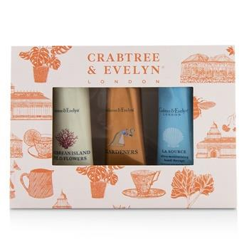 Crabtree & Evelyn Bestsellers Hand Therapy Set (1x Caribbean Island Wild Flowers, 1x Gardeners, 1x La Source) 3x25g/0.9oz Skincare