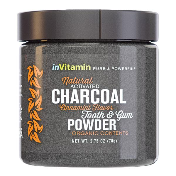 InVitamin Natural Activated Charcoal Tooth & Gum Powder - Cinnamint 78gm