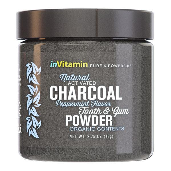 InVitamin Natural Activated Charcoal Tooth & Gum Powder - Peppermint 78gm