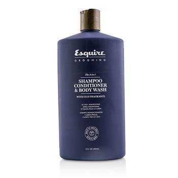 Esquire Grooming The 3-in-1 Shampoo, Conditioner & Body Wash 414ml/14oz Hair Care