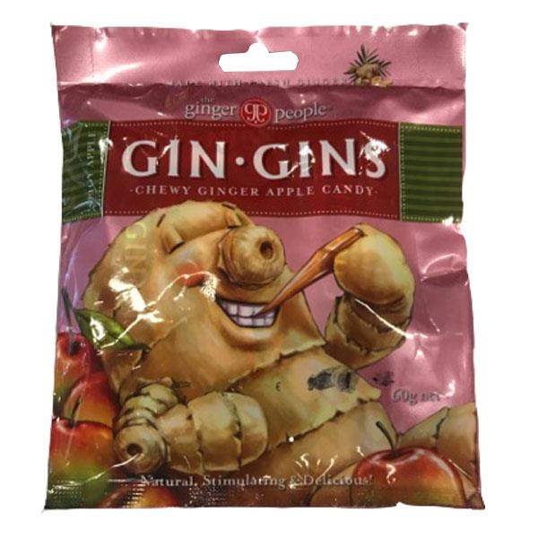 The Ginger People Gin Gins Chewy Ginger Apple Candy 60gm
