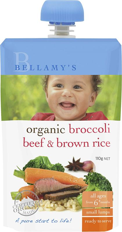 Bellamy's Organic Broccoli Beef & Brown Rice 110g
