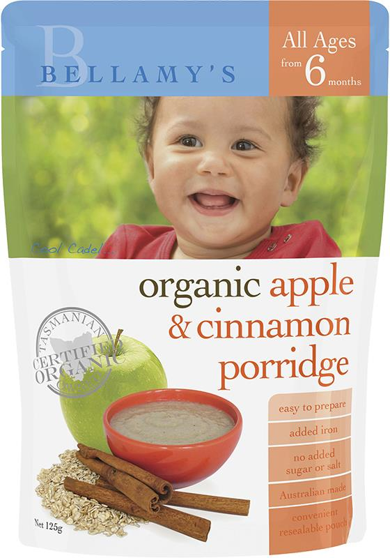 Bellamy's Organic Apple & Cinnamon Porridge 125g