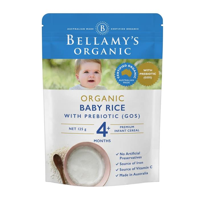 Bellamy's Organic Baby Rice Cereal with Prebiotic 125g