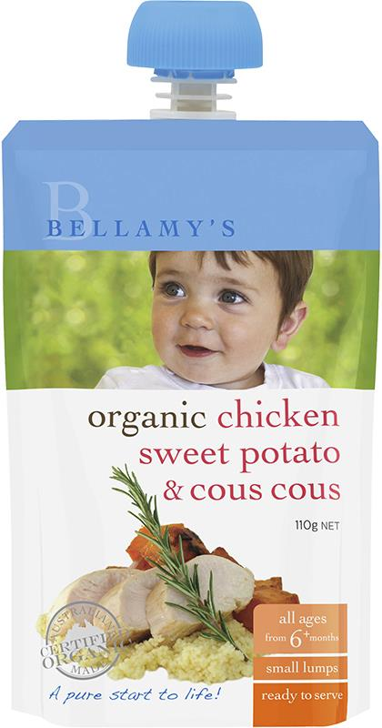 Bellamy's Organic Chicken Sweet Potato & Cous Cous 110g