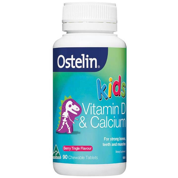 Ostelin Vitamin D & Calcium Kids Chewable Tab X 90
