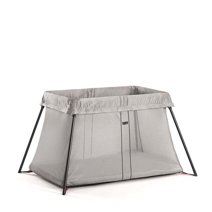 BabyBjorn Travel Cot Light – Silver Mesh