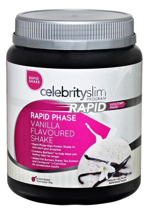 Celebrity Slim Rapid Shake Vanilla 840g