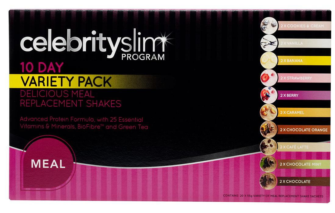 Celebrity Slim Shake 10 Day Variety Pack