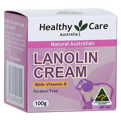 Healthy Care Natural Lanolin & Vitamin E Cream 100g