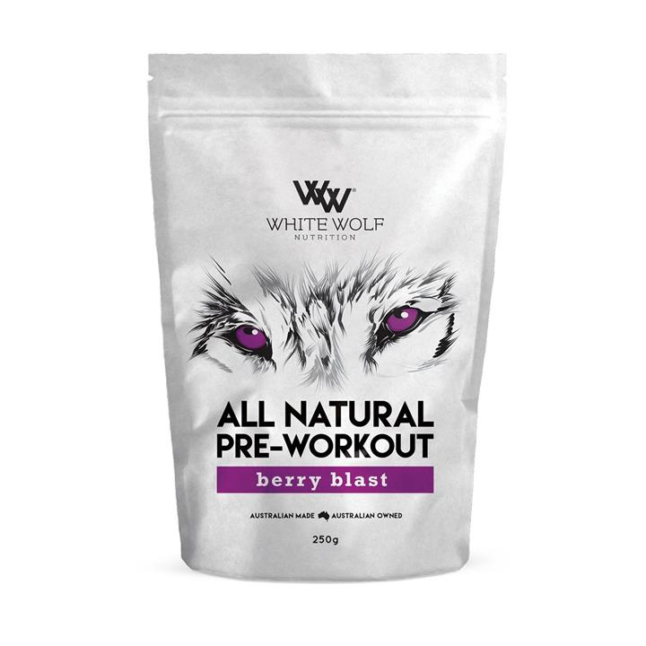 White Wolf Nutrition All Natural Pre-Workout 250g