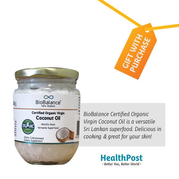 BioBalance Virgin Coconut Oil Certified Organic – Freebie 225ml