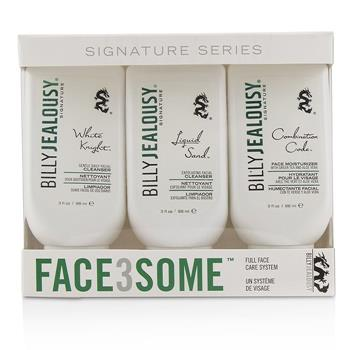Billy Jealousy Face3Some Kit: Face Moisturizer 88ml + Exfoliating Facial Cleanser 88ml + Gentle Daily Facial Cleanser 88ml 3pcs Men's Skincare