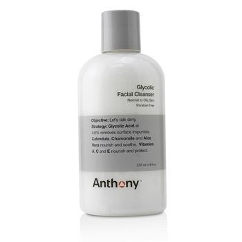 Anthony Logistics For Men Glycolic Facial Cleanser – For Normal/ Oily Skin (Unboxed) 237ml/8oz Men's Skincare