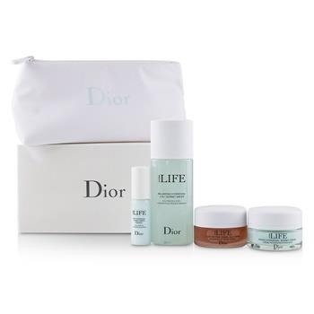 Christian Dior Hydra Life Travel Set: Balancing Hydration Sorbet Water+Deep Hydration Water Essence+Fresh Hydration Creme+Glow Better Mask 4pcs Skincare