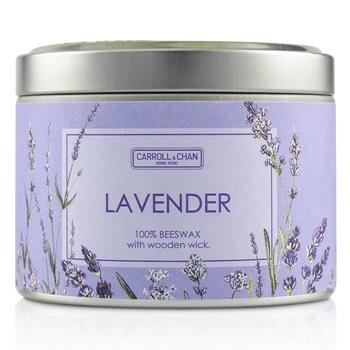The Candle Company Tin Can 100% Beeswax Candle with Wooden Wick – Lavender (8×5) cm Home Scent