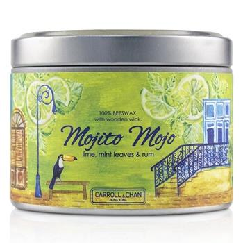 The Candle Company Tin Can 100% Beeswax Candle with Wooden Wick – Mojito Mojo (8×5) cm Home Scent