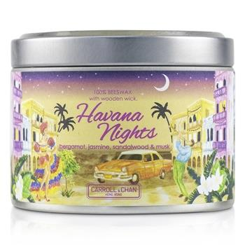 The Candle Company Tin Can 100% Beeswax Candle with Wooden Wick – Havana Nights (8×5) cm Home Scent