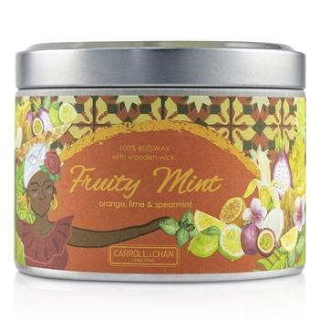 The Candle Company Tin Can 100% Beeswax Candle with Wooden Wick – Fruity Mint (8×5) cm Home Scent