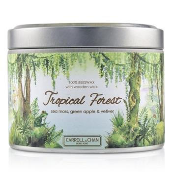 The Candle Company Tin Can 100% Beeswax Candle with Wooden Wick – Tropical Forest (8×5) cm Home Scent