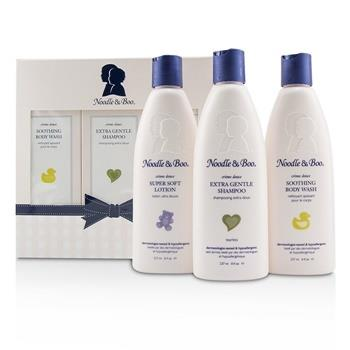 Noodle & Boo Starter Gift Set: Extra Gentle Shampoo 237ml/8oz + Soothing Body Wash 237ml/8oz + Super Soft Lotion 237ml/8oz 3pc Skincare