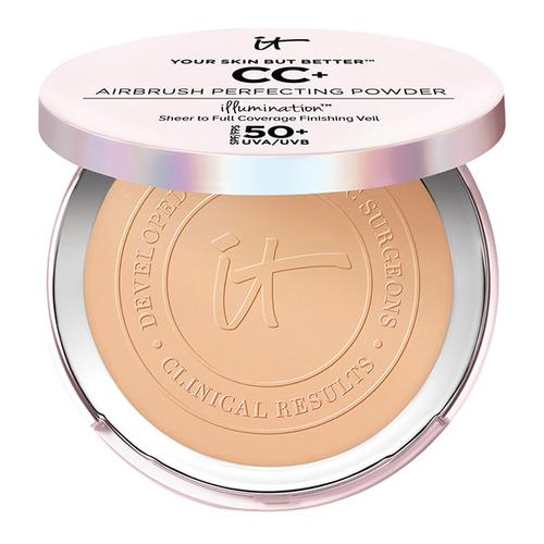 IT Cosmetics Your Skin But Better Cc+ Airbrush Perfecting Powder Spf 50+ Medium Tan