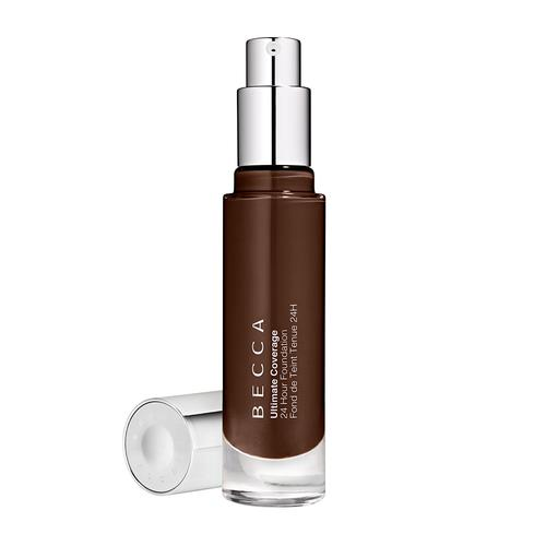 BECCA Ultimate Coverage 24 Hour Foundation Cacao 6C2 – very deep espresso with cool undertones