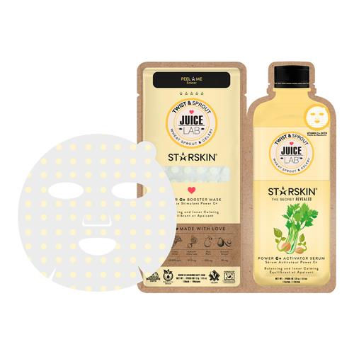 Starskin JuiceLab® Twist & Sprout Power C+ Booster Mask Wheat Sprout & Celery – Balancing & Inner Calming 1 Mask + 1 Serum