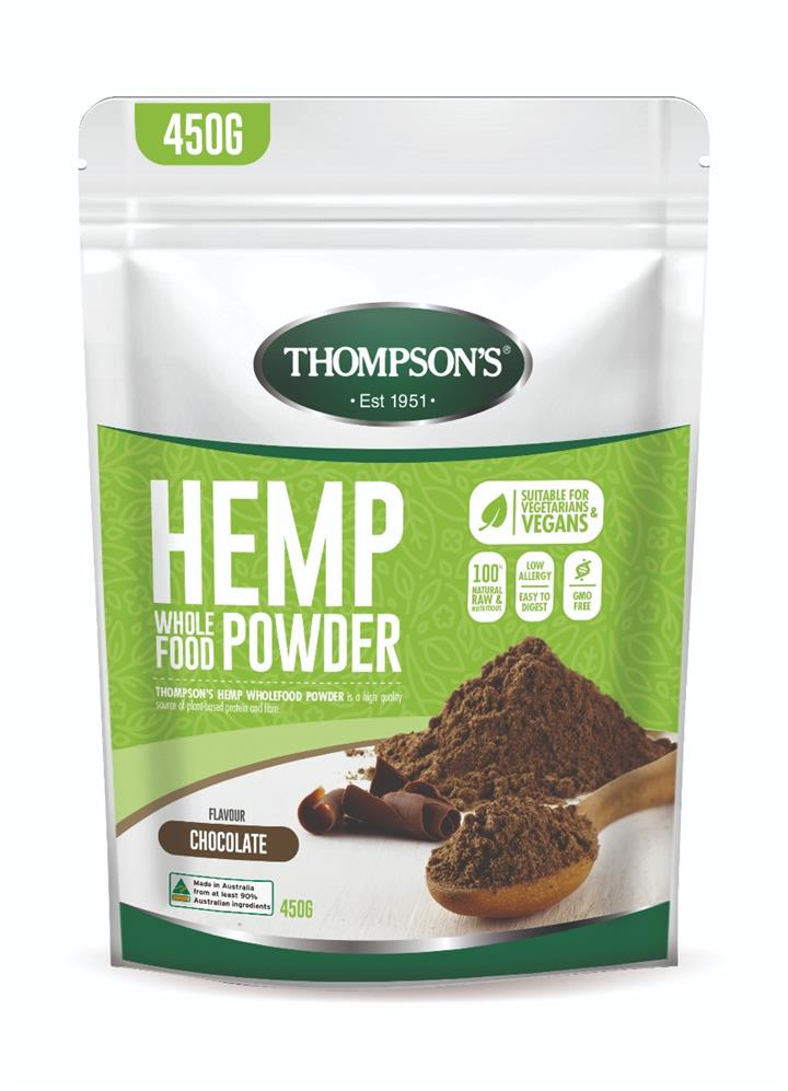 Thompson's Hemp Wholefood Powder (Chocolate) 450g