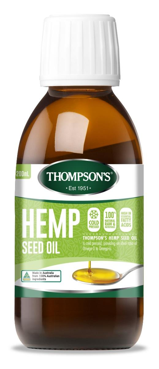 Thompson's Hemp Seed Oil 200ml